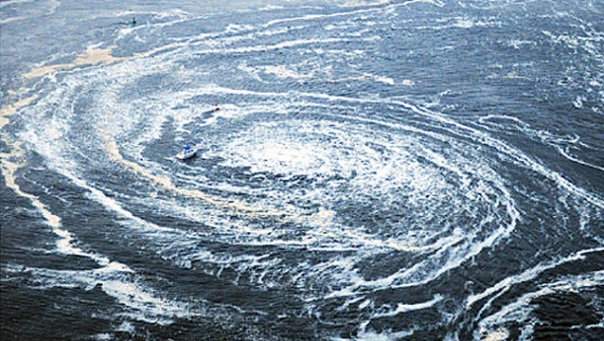 Why Japan?s Tsunami Triggered an Enormous Whirlpool  A long, long
